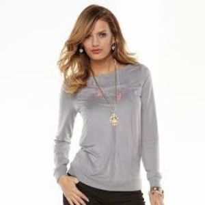 Juicy Couture Gray Soft Faux Suede French Terry